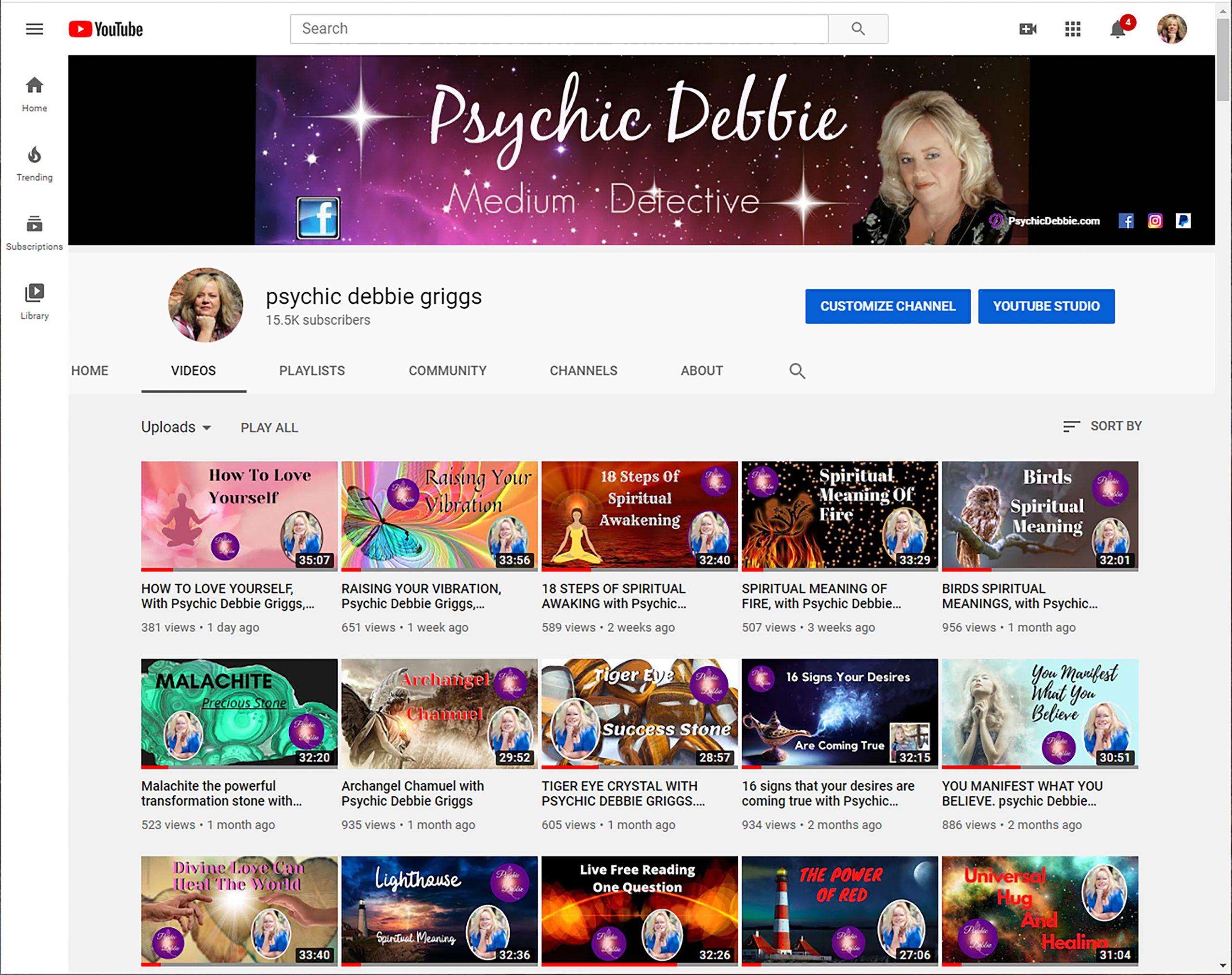 Debbie's YouTube Channel